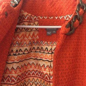 Orange tweed career jacket with chain size M